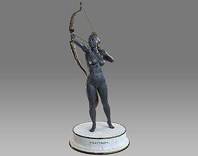Zodiac Sign Female Sagittarius 3D model