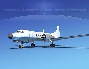 Convair CV-580 Unmarked 2 3D