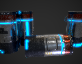 3D model SciFi Barrels
