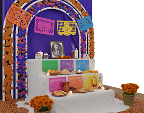 3D model Day of the Dead Altar