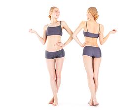 3D model Scan woman sport 18