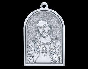 3D print model Jesus pendant jewelry cross pray christian