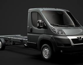 3D model Peugeot Boxer Chassis Truck Single Cab 4300WB