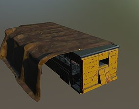 3D asset Apocalyptic bus base Game ready