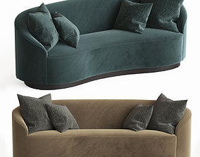 3D Petite Curved Sofa