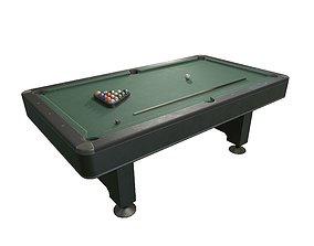 Pool Table 3D model VR / AR ready PBR