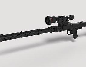 3D model Stormtrooper Heavy Blaster Rifle DLT-19X from 1