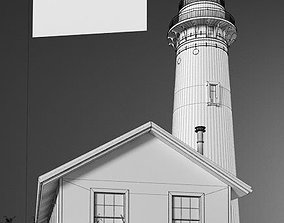 House And Lighthouse Exterior 3D