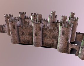 3D model game-ready Medieval Castle