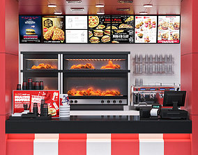 Fastfood Coffee Kiosk 4 3D