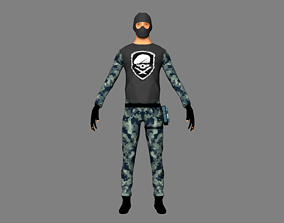 3D model Character army military rigged