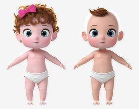 3D Cartoon Baby Twin NoRig