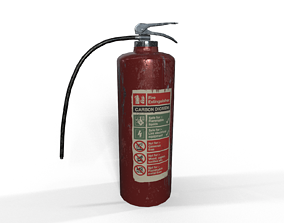 old 3D model low-poly PBR Fire extinguisher