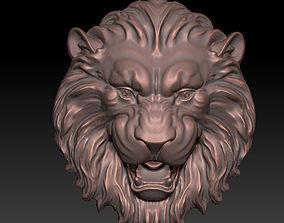 relief 3D print model lion pendant