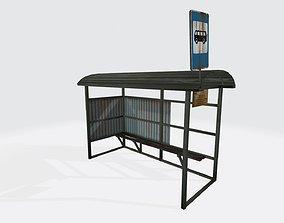 3D model Busstop
