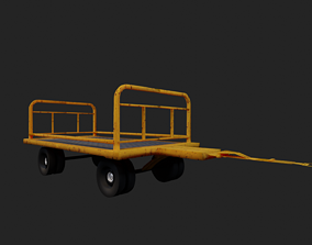 realtime Trolley Low-poly 3D model