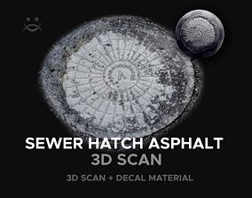 Sewer Hatch Asphalt 3D model