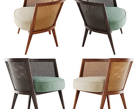 3D asset Harvey Probber Lounge Chair low poly version
