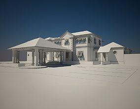 exterior Luxury Home bahama style 3D model