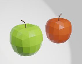 3D model Low-poly apples
