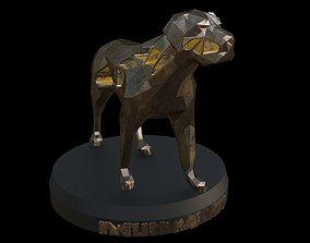 3D model Steampunk English Mastiff Pose