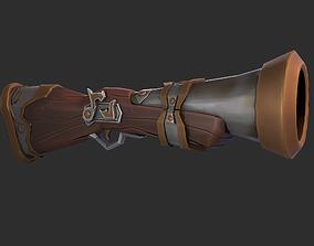 3D model Stylized Gun