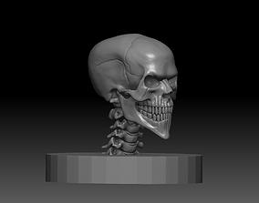 3D asset Evil Skull