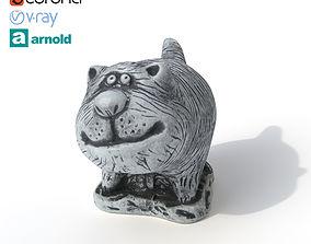 Statuette Sly cat 3D model