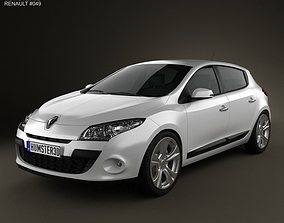 3D model Renault Megane hatchback 2011