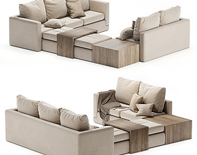 3D Minotti sofa cream