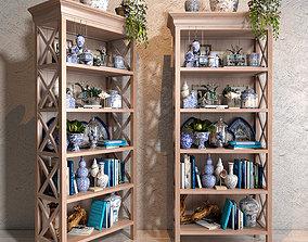 3D The blues Vase collections set 02