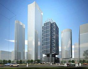 3D Model Detailed Office Building
