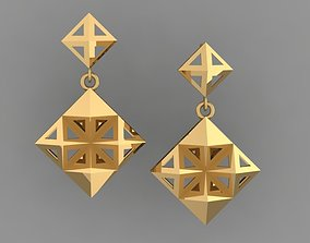 matrix GOLD EARRING 3D print model