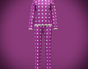 cute pyjamas - polka dots pajamas 3D