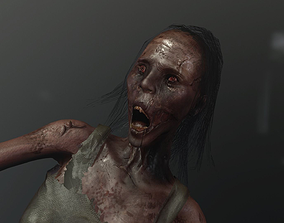 3D asset zombie woman or Ghost AAA like PT