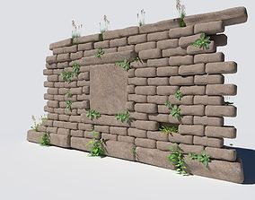 Overgrown Wall 3D