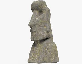 3D asset Easter Island Moai Statue