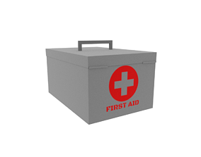 First aid bag 3D asset