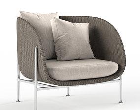 3D Janus and Cie Gina armchair
