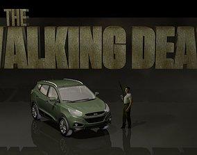 3D Walking dead Shane set