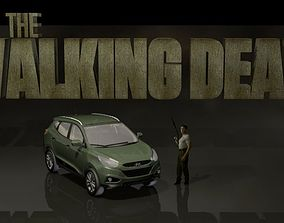3D Walking dead Shane set