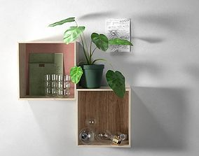 Wall Shelves Composition 3D model