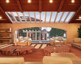 Spanish Modern Modular Villa Assets - Furniture game-ready