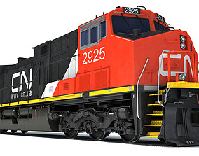 Locomotive Canadian National Railway CN 3D model