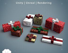 PBR Christmas Gift Pack 3D asset