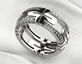 Bvlgari Gold Ring 3D printable model