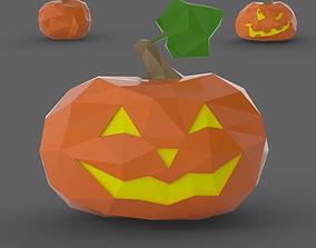 jack-o-lantern Halloween Pumpkin Low Poly 3D print model