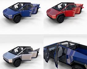Tesla Cybertruck with Interior Pack 3D model