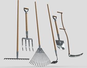 Gardening Tools Pack 3D asset