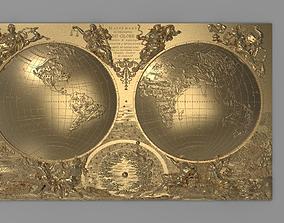 3D printable model World map - Mappemonde ou description 2